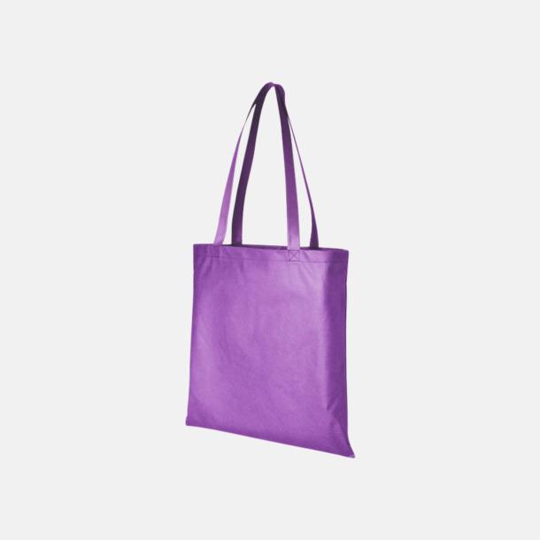 Lavender (PMS 265) Billiga Non Woven kassar med eget reklamtryck