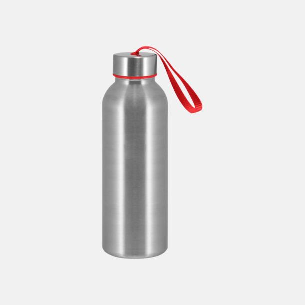 Röd Trendiga metallvattenflaskor med reklamtryck