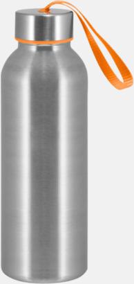 Orange Trendiga metallvattenflaskor med reklamtryck