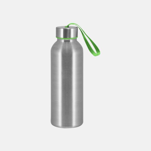 Grön Trendiga metallvattenflaskor med reklamtryck