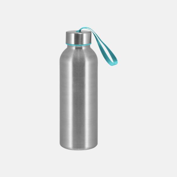 Turkos Trendiga metallvattenflaskor med reklamtryck