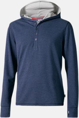 Heather Blue (herr) Knappförsedda huvtröjor med reklamtryck