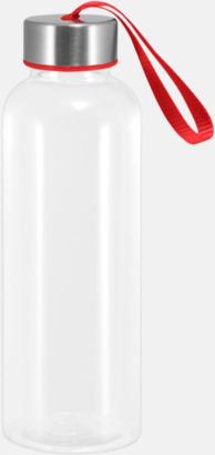 Röd Tritanflaskor med färgaccent med reklamtryck