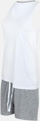Vit/Heather Grey (short) 2 varianter av pyjamasset i påse med reklamtryck
