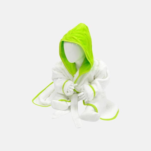 Vit / Limegrön Badrockar för de allra minsta - med reklamtryck