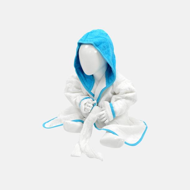 Vit/Aqua Blue Badrockar för de allra minsta - med reklamtryck