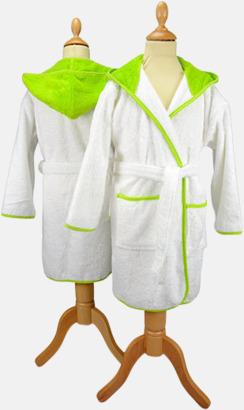 Vit / Limegrön Badrockar för barn - med reklamtryck