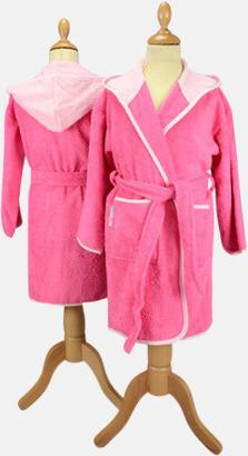 Rosa/Ljusrosa Badrockar för barn - med reklamtryck