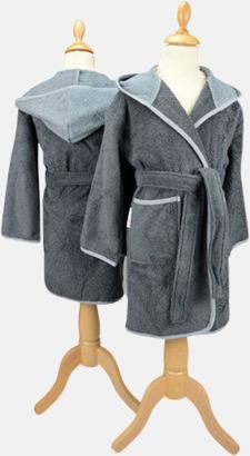 Graphite/Anthracite Grey Badrockar för barn - med reklamtryck