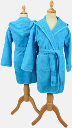 Aqua Blue Badrockar för barn - med reklamtryck