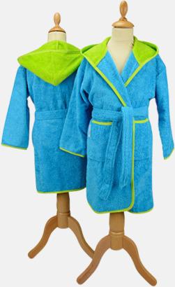 Aqua Blue/Limegrön Badrockar för barn - med reklamtryck