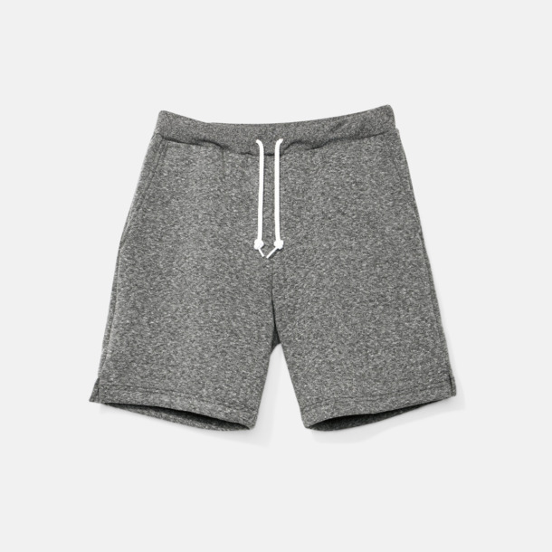 Peppered Grey Salt & Pepper gym shorts med reklamtryck