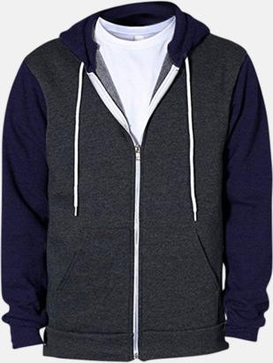 Dark Heather GreyMarinblå Unisex huvtröjor med reklamtryck