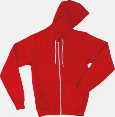 Röd Unisex huvtröjor med reklamtryck