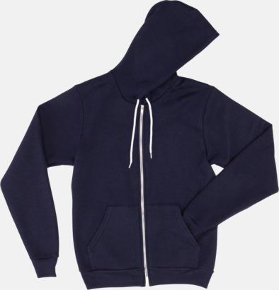 Marinblå Unisex huvtröjor med reklamtryck