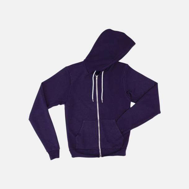 Imperial Purple Unisex huvtröjor med reklamtryck