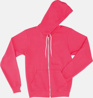 Deep Pink Unisex huvtröjor med reklamtryck