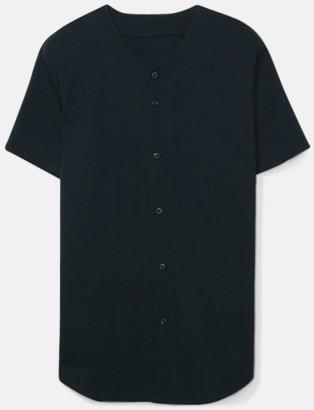 Svart Knappförsedda t-shirts med reklamtryck