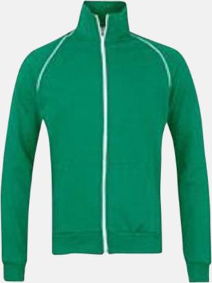 Kelly Green/Vit Track jackets med reklamtryck