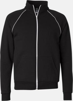 Svart / Vit Track jackets med reklamtryck