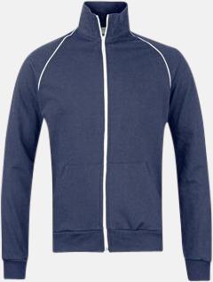 Asphalt/Vit Track jackets med reklamtryck