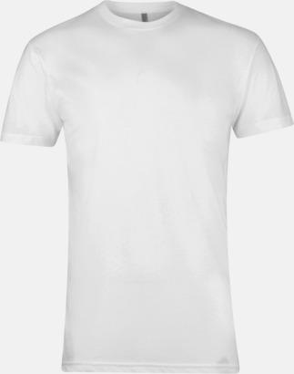 Vit Polycotton t-shirts med reklamtryck