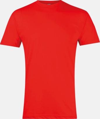 Röd Polycotton t-shirts med reklamtryck