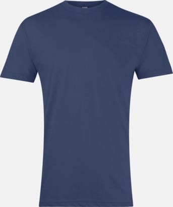 Marinblå Polycotton t-shirts med reklamtryck