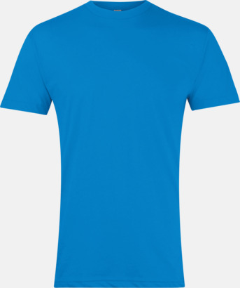 Heather Lake Blue Polycotton t-shirts med reklamtryck