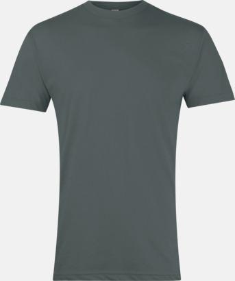 Heather Black Polycotton t-shirts med reklamtryck