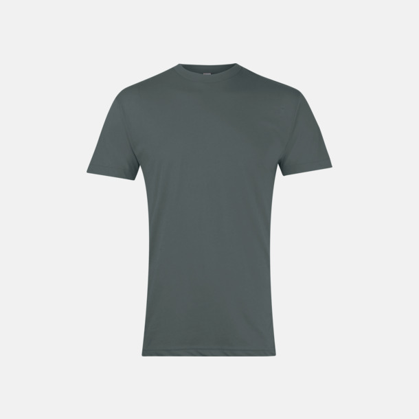 Heather Black Polycotton t-shirts med reklamtryck