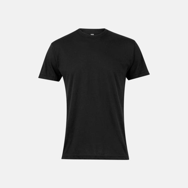 Svart Polycotton t-shirts med reklamtryck