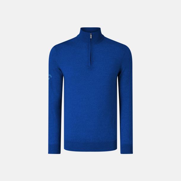 Surfing Blue Blixtlåsförsedda ulltröjor från Callaway med reklamtryck