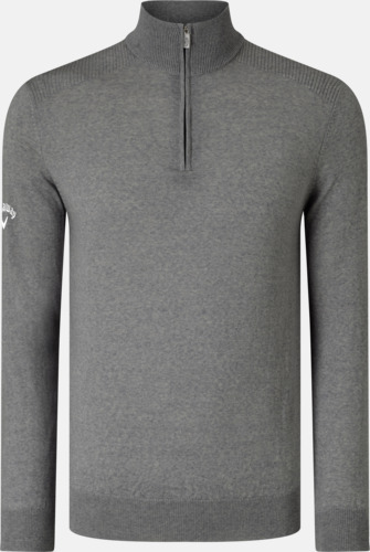 Quiet Shade Grey Blixtlåsförsedda ulltröjor från Callaway med reklamtryck