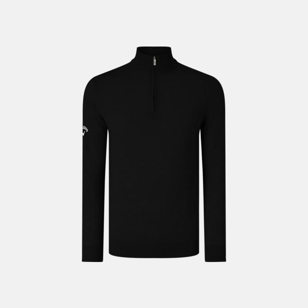 Black Onyx Blixtlåsförsedda ulltröjor från Callaway med reklamtryck