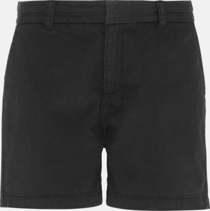 Svart (dam) Herr- & damchino shorts med reklamtryck