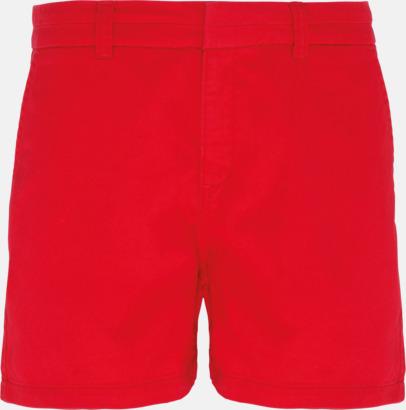 Cherry Red (dam) Herr- & damchino shorts med reklamtryck