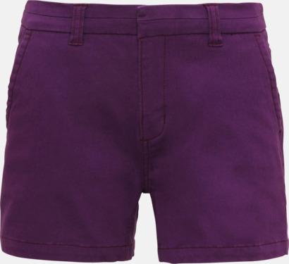 Lila (dam) Herr- & damchino shorts med reklamtryck