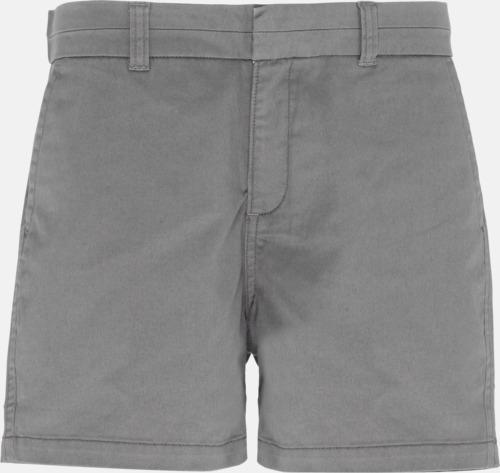 Slate (dam) Herr- & damchino shorts med reklamtryck