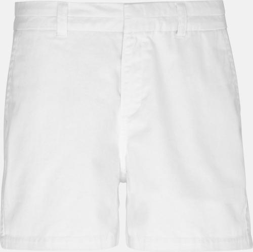 Vit (dam) Herr- & damchino shorts med reklamtryck