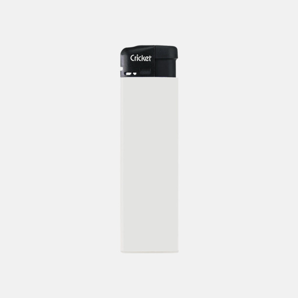 Vit (standard) Cricket Electronic Tändare i två storlekar med eget reklamtryck