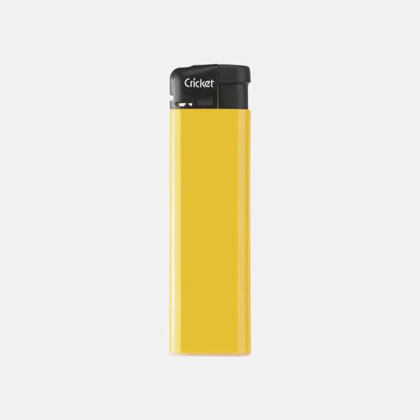 Gul (Standard) Cricket Electronic Tändare i två storlekar med eget reklamtryck