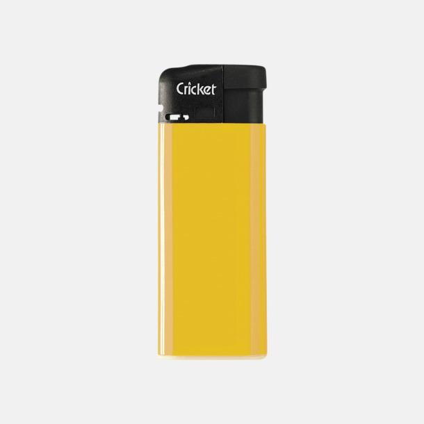 Gul (mini) Cricket Electronic Tändare i två storlekar med eget reklamtryck
