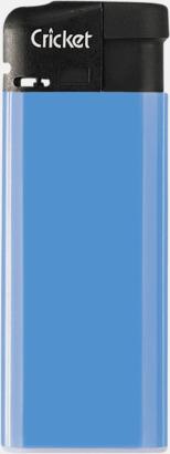 Blå (mini) Cricket Electronic Tändare i två storlekar med eget reklamtryck