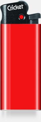Röd Cricket Mini Tändare med eget tryck