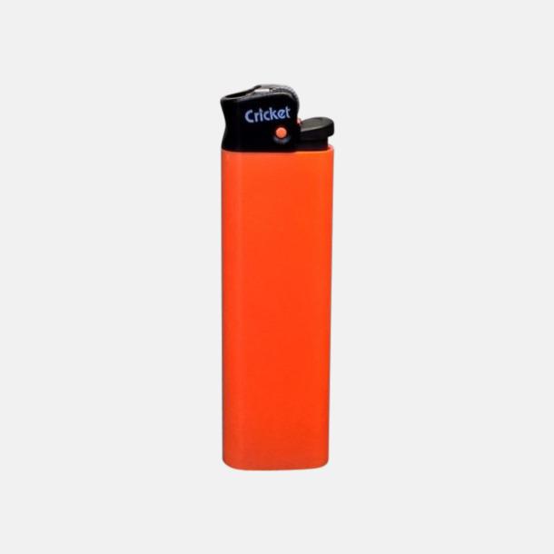 Floucerande Orange (svart topp) Cricket tändare med eget reklamtryck