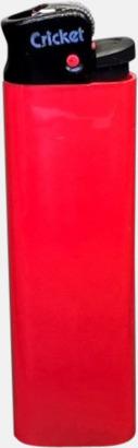 Floucerande Röd (svart topp) Cricket tändare med eget reklamtryck