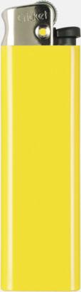Gul (metall top) Cricket tändare med eget reklamtryck
