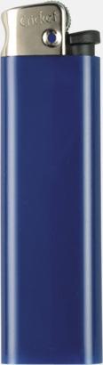 Blå (metall topp) Cricket tändare med eget reklamtryck