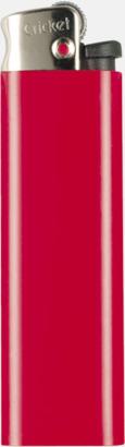 Röd (metall topp) Cricket tändare med eget reklamtryck